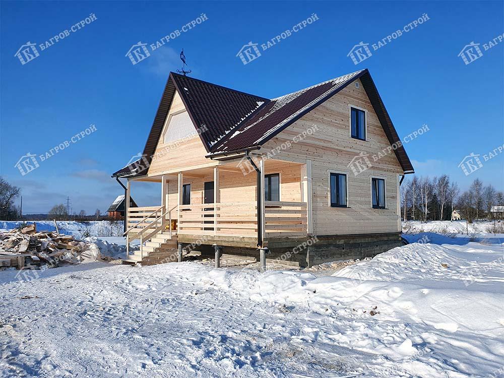 Дом из бруса 8х9 Игнат, Московская область, Дмитровский р-он