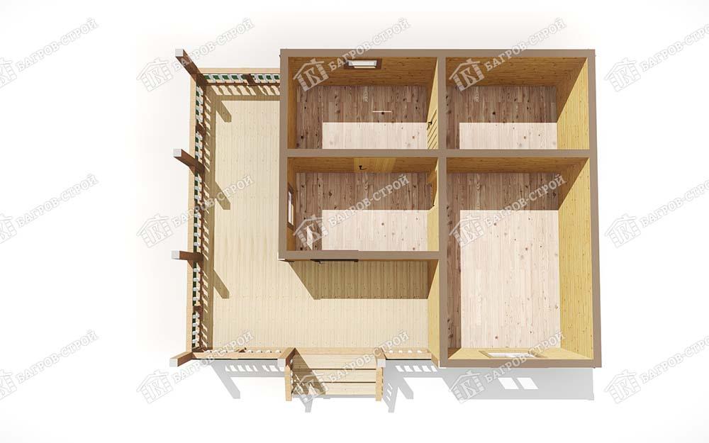 Каркасная баня 6х8 Рада