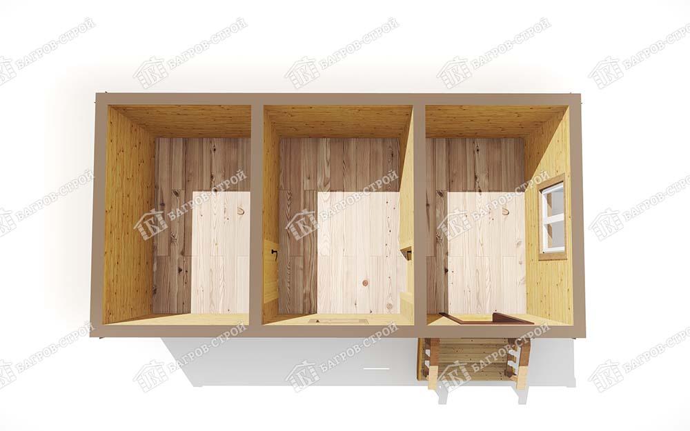 Каркасная баня 3х6 Отрада