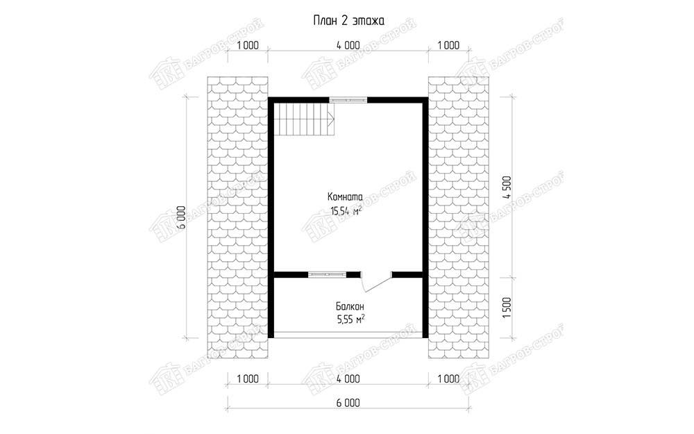 Каркасная баня 6х6 Велена