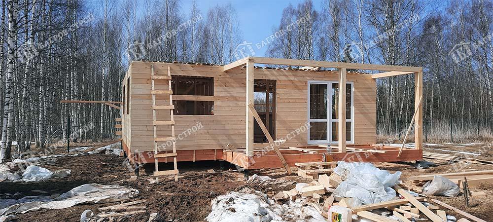 Каркасный дом 6х8 Олег, Смоленская обл., Темкинский р-н