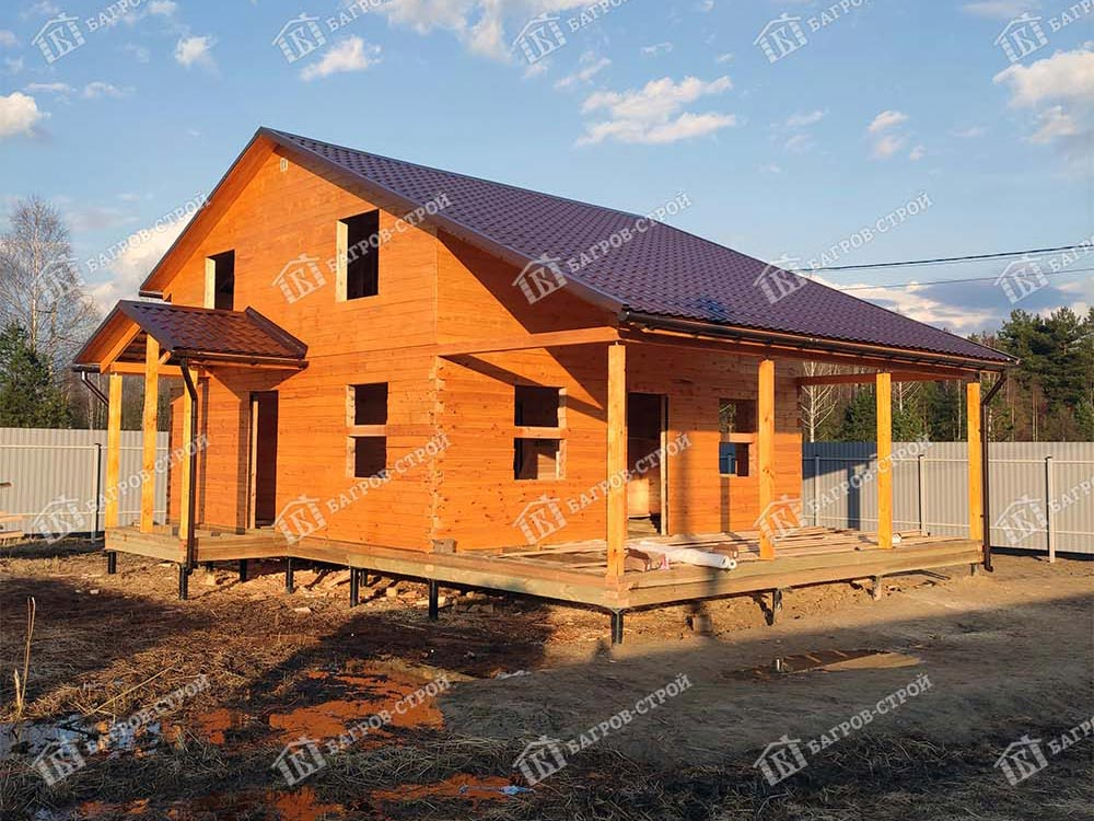 Дом из бруса 7.5х10.5 Корнил, Московская область, Ногинский  р-он