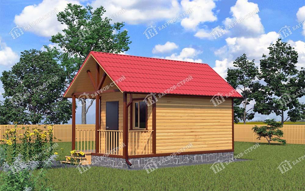 Каркасный дом 4х6 Алфей