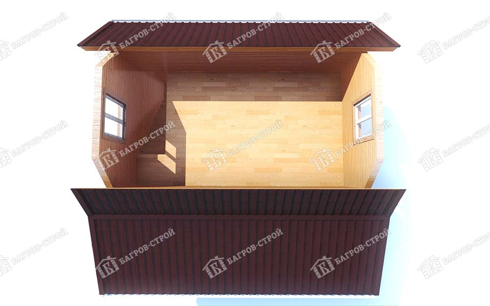 Каркасный дом 6х6 Демид