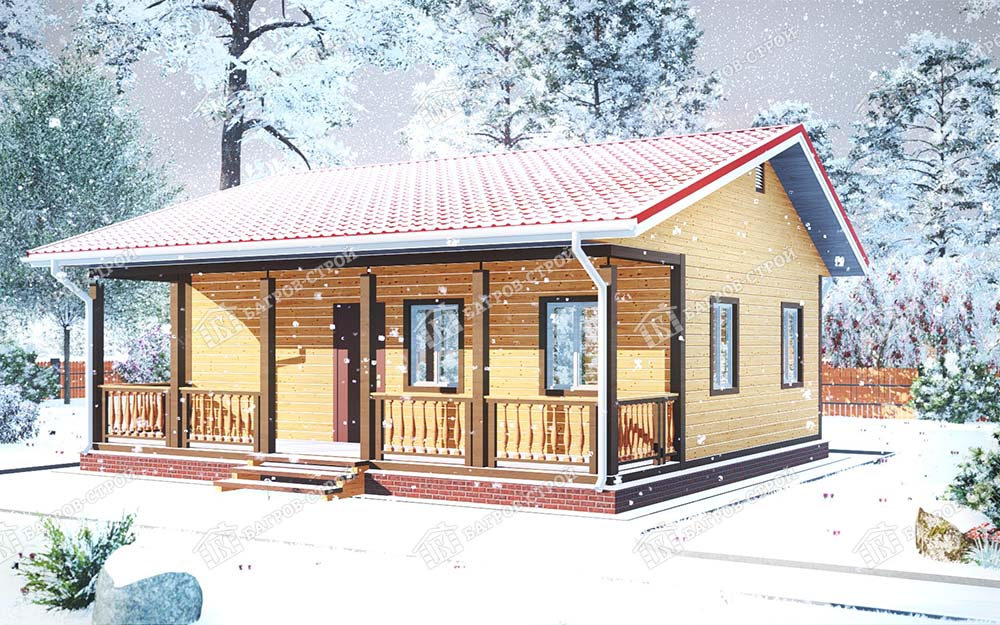 Каркасный дом 8х9 Ефрем