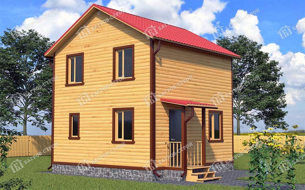 Каркасный дом 6х6 Харитон