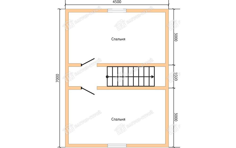Каркасный дом 7х9 Никанор