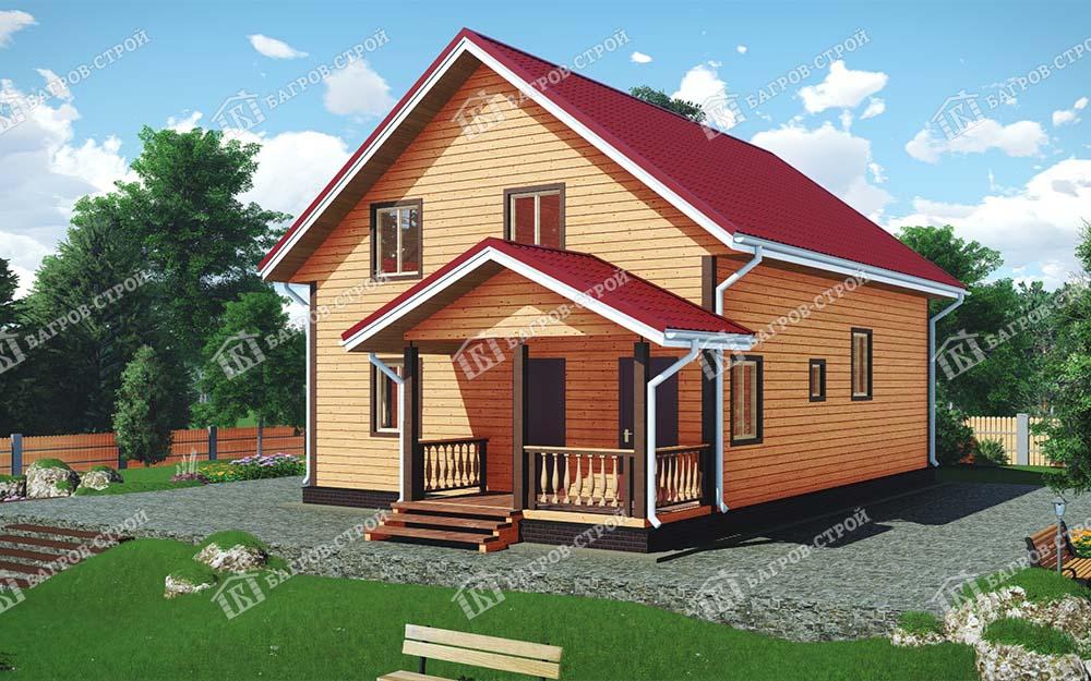 Каркасный дом 10х11 Петр