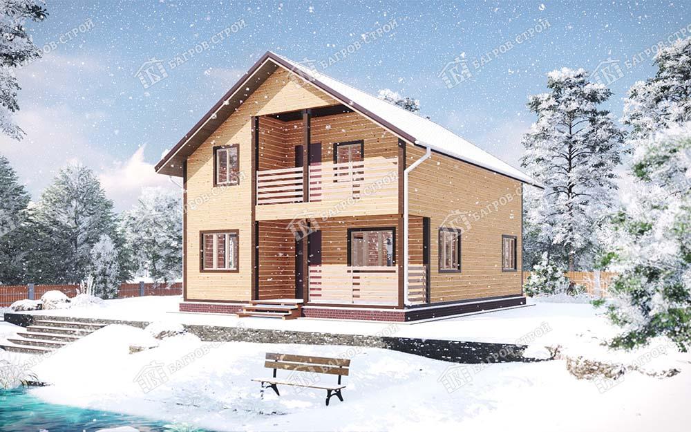 Каркасный дом 8х10 Рудольф