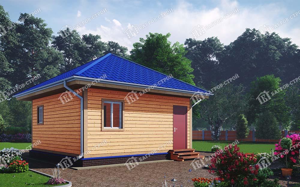 Каркасный дом 6х6 Валериан
