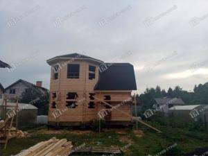 Отзыв о строительстве дома из бруса 7х7м, проект «Ратмир» без отделки