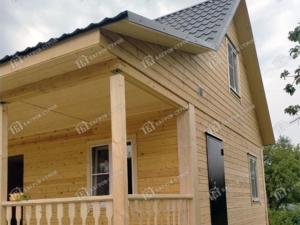 Отзыв о строительстве дома из бруса 6х8, проект «Ермак»