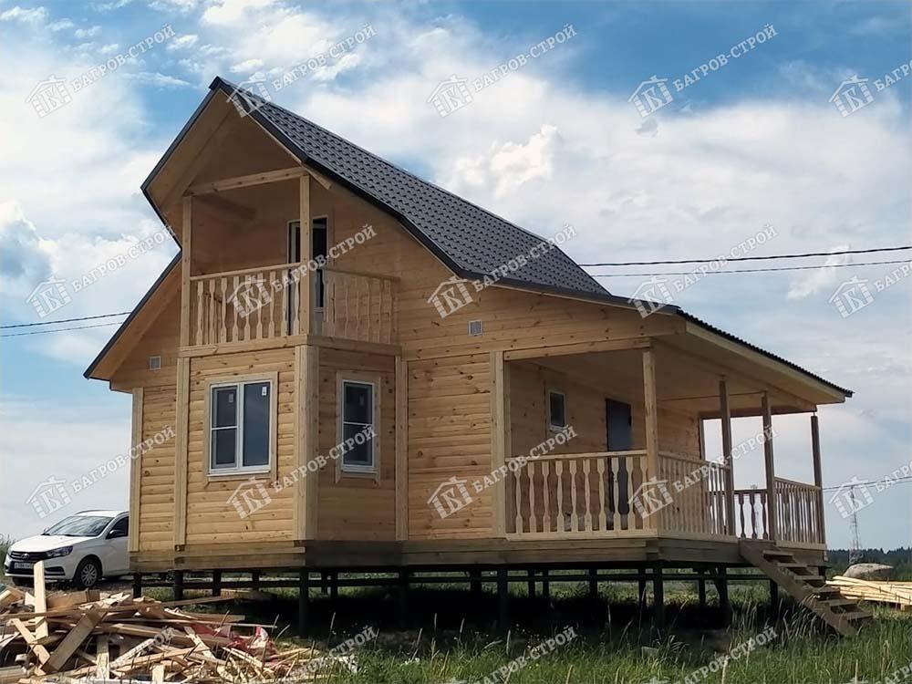 Дом из бруса 6х8 Игнат, Ленинградская обл., Выборгский р-н